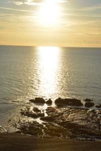 Sunset over Aberystwyth bay