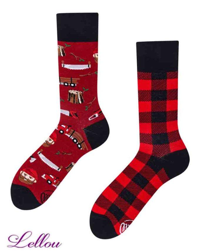 Chaussettes Dépareillées Bûcheron LUMLIF regular Socks amusantes et drôles. La vie est trop courte pour des chaussettes ennuyeuses! Europe