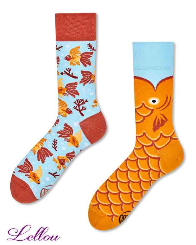Chaussettes dépareillées Poisson Socks amusantes et drôles. La vie est trop courte pour des chaussettes ennuyeuses! Production Europe