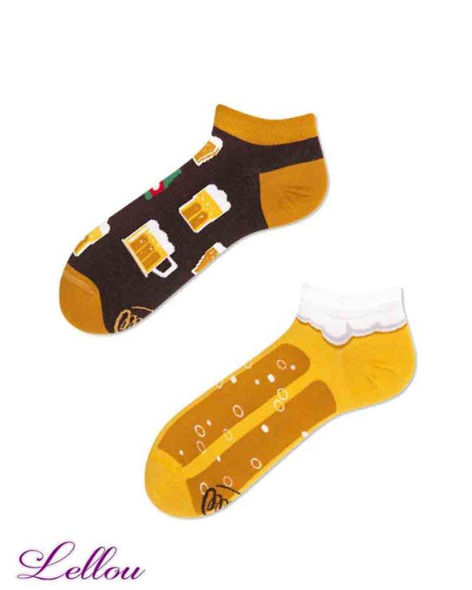 Socquettes Chaussettes Bière CRABEE low amusantes et drôles. La vie est trop courte pour des chaussettes ennuyeuses! Production Europe