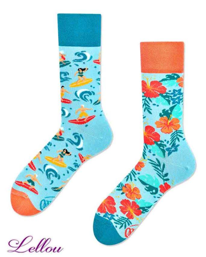 Chaussettes dépareillées Aloha amusantes et drôles. La vie est trop courte pour des chaussettes ennuyeuses! Production Europe