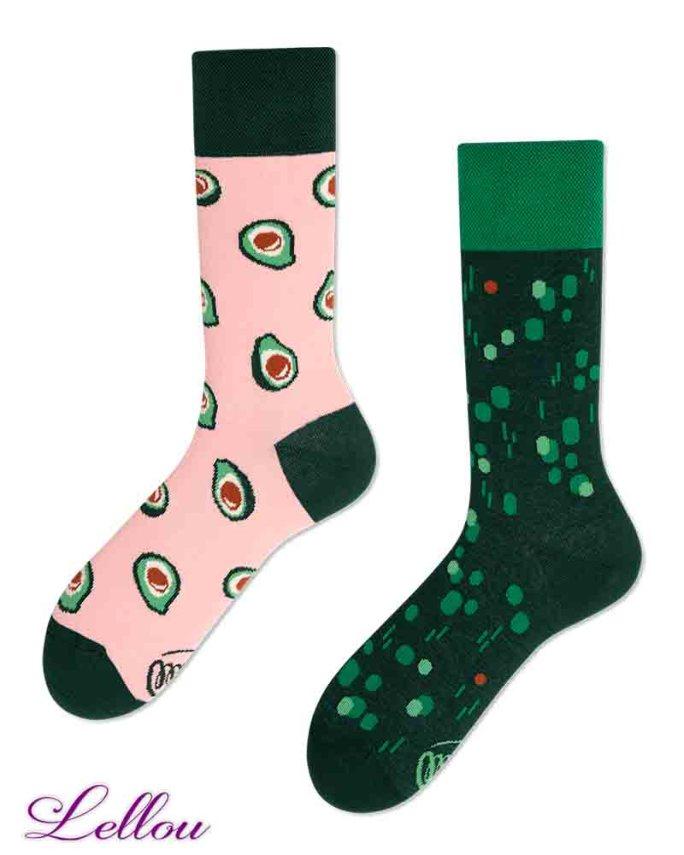 Chaussettes dépareillées Avocat Socks amusantes et drôles. La vie est trop courte pour des chaussettes ennuyeuses! Production Europe