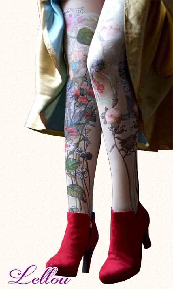 Collants Marie Antoilette Dragées, 50 Deniers. Pour toutes les filles qui n'en font qu'à leur tête! Bas, Panty, Drôles amusants Originaux Illustrations Créateur