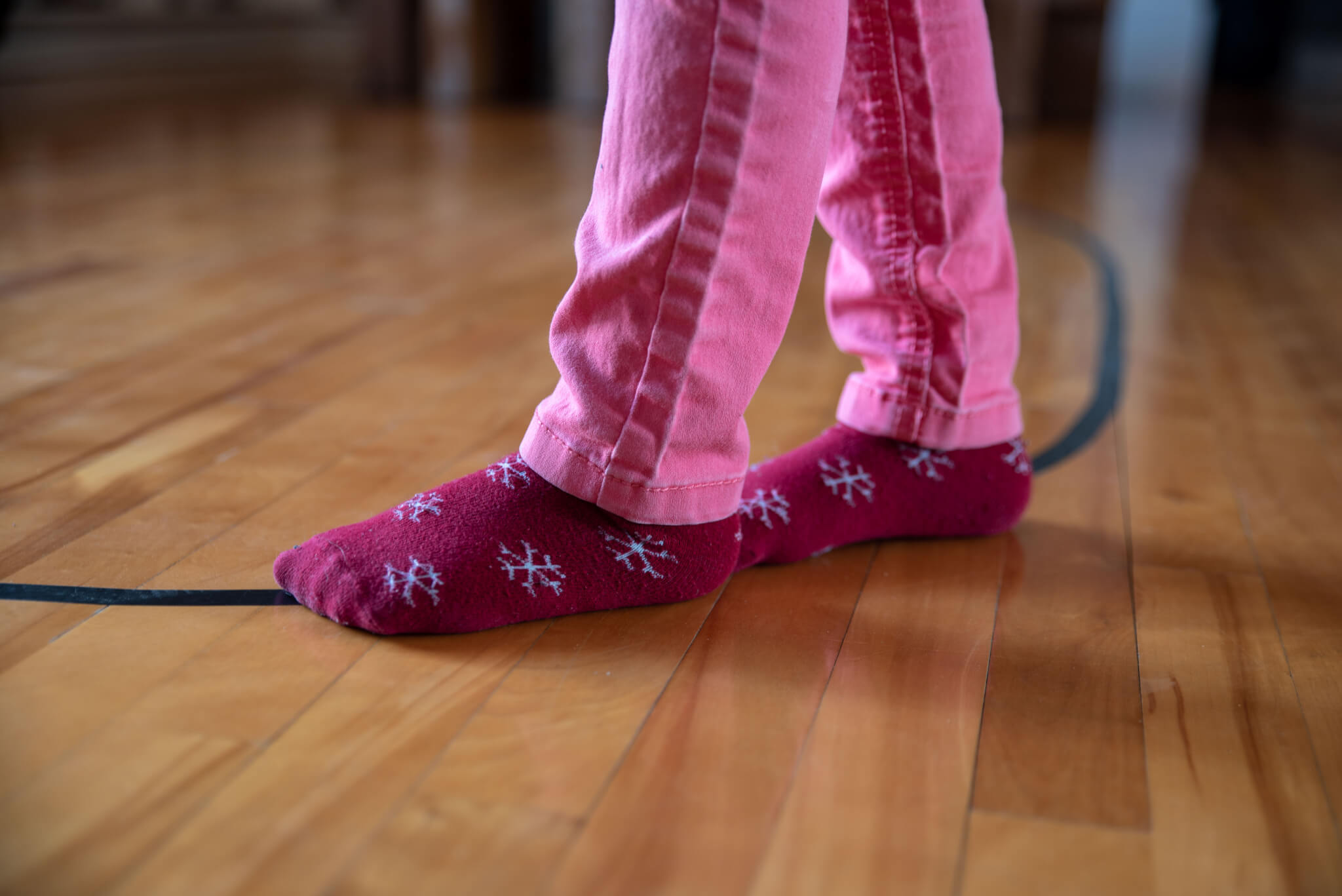 Marcher sur la ligne ovale Montessori
