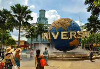 Universal Studios Singapore with a toddler