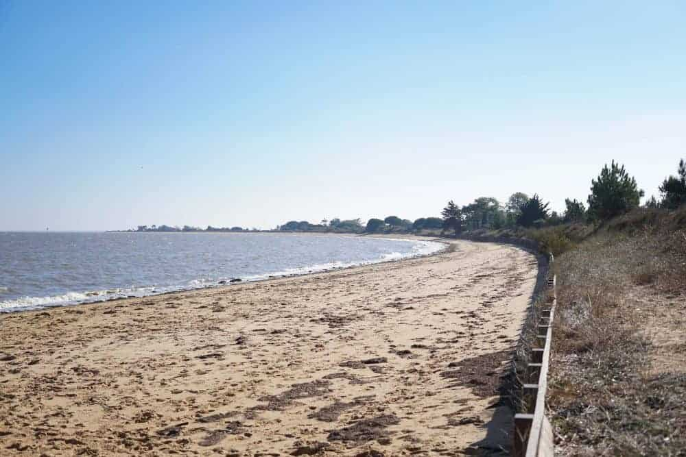 Beach at Fort Royer, Ile d oleron, France
