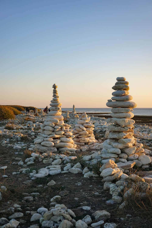 Rock art on oleron island, france