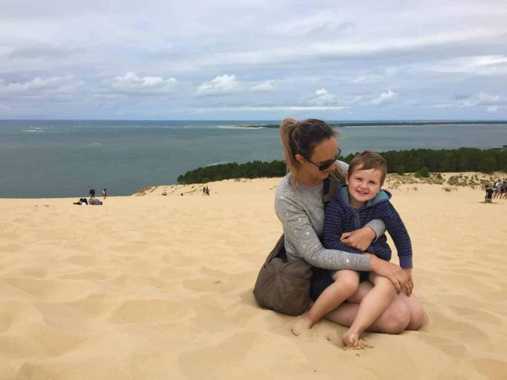 At the top of the Dune du pyla, France