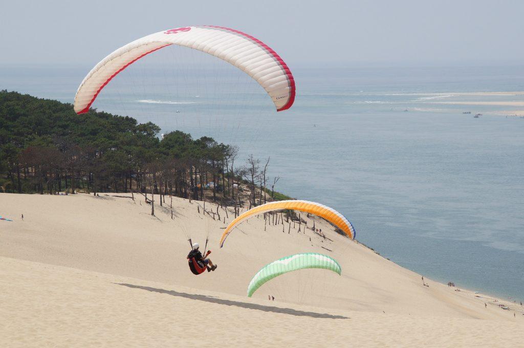Paragliding on the Dune du Pilat/Dune du Pyla, France