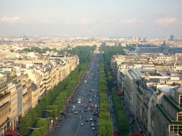 Looking down Champ-Elysees