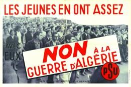 Non à la guerre d'algérie