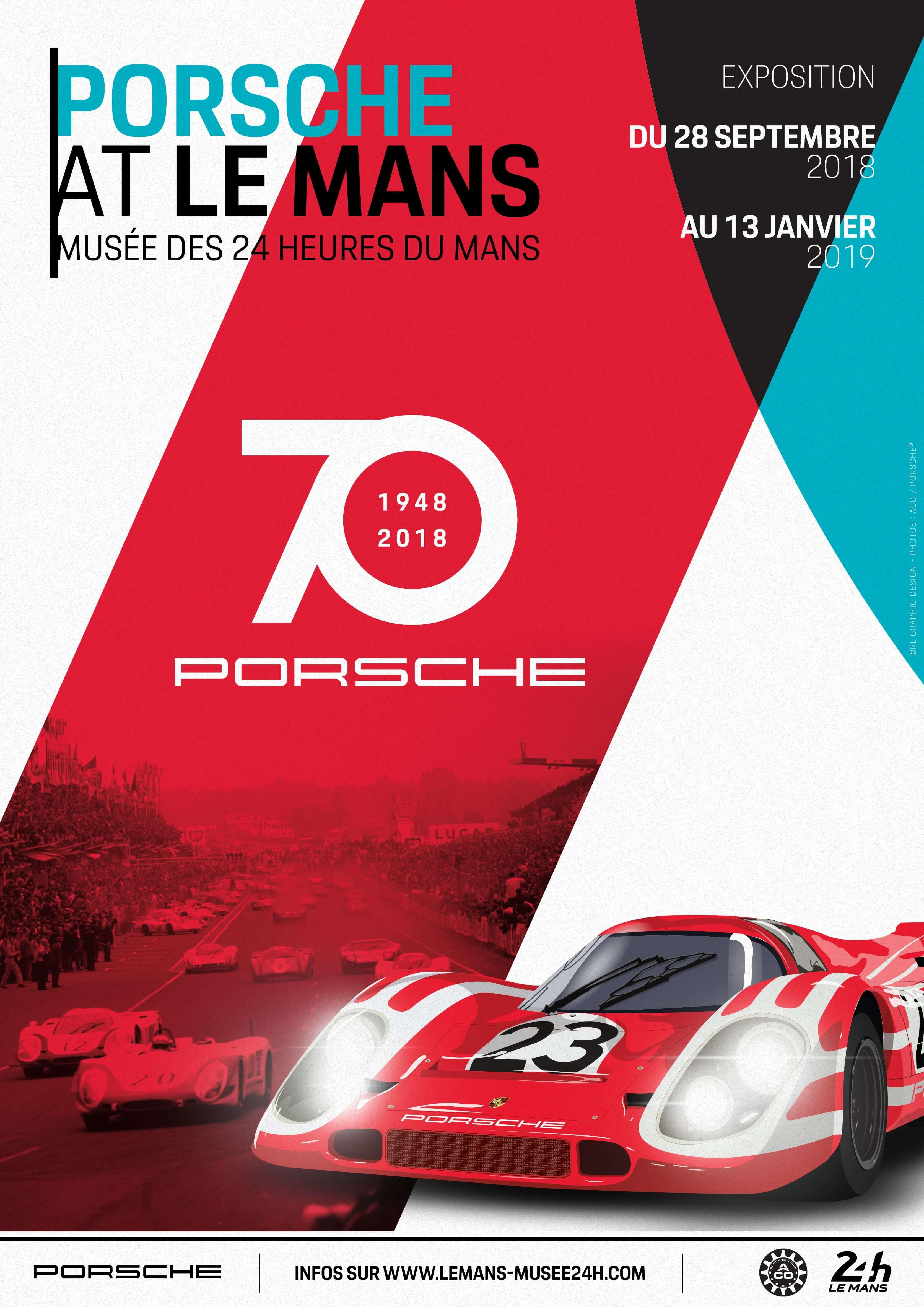 Musée Des 24 Heures Du Mans : musée, heures, Affiche, Porsche, Musée, Heures