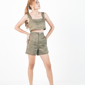 Amalia crop & Ula shorts in Olive