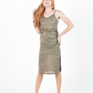Isabella dress in Olive