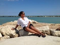 enjoying the the sun on the rocks