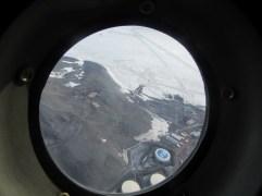 Flying over McMurdo