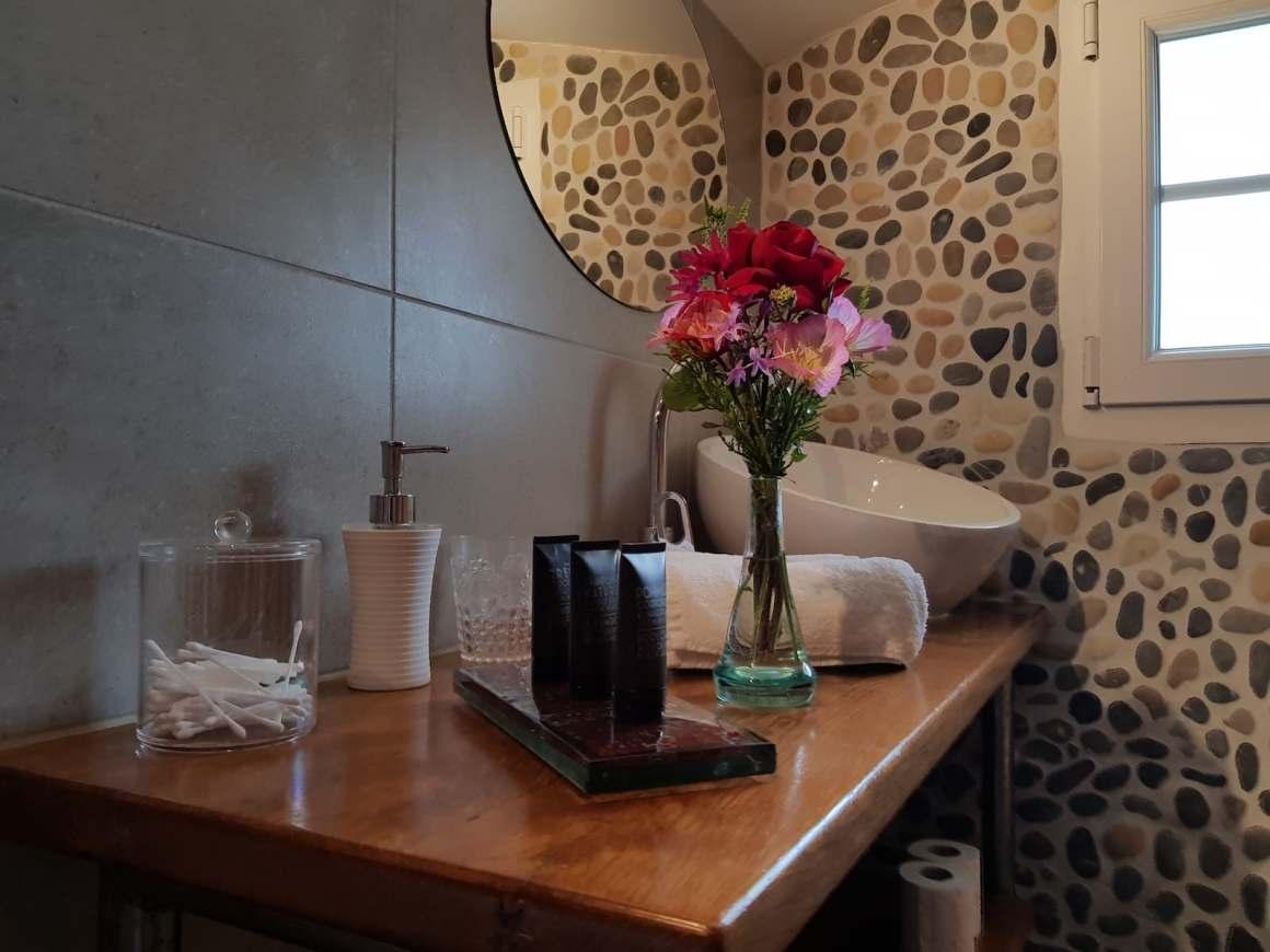 Chambre d'hôtes - Marron glacé et crème fleurette 3