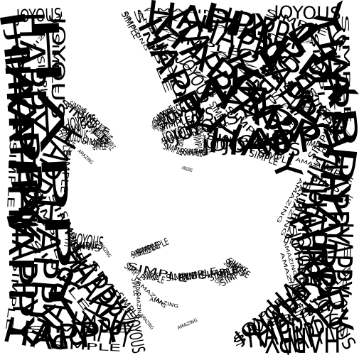 A girl's face made of text by John LeMasney via 365sketches.org #cc #design #typography