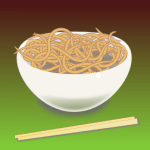 A bowl of noodles by John LeMasney via 365sketches.org #Inkscape #food #illustration