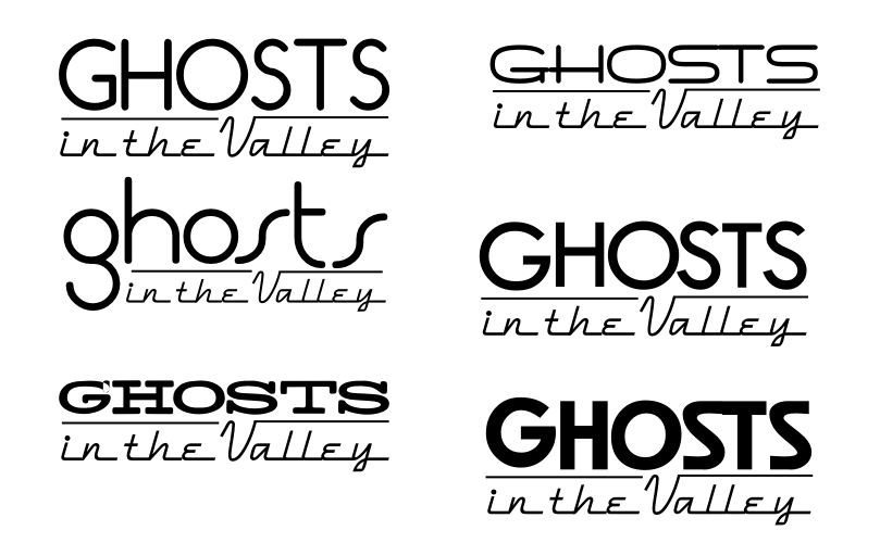 257 of 365 is a brandstorm for Ghosts in the Valley #logo