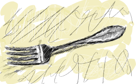 Fork by John LeMasney via 365sketches.org #Inkscape #drawing #food