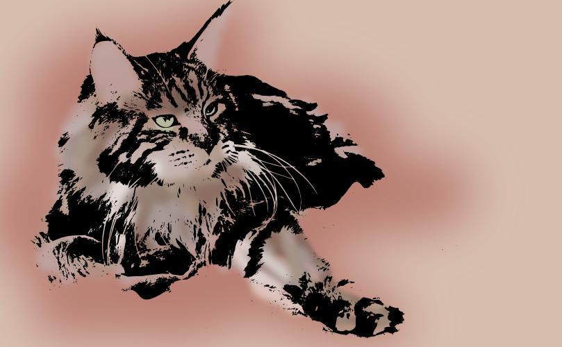 20121118: A Hemingway Cat by John LeMasney via 365sketches.org #design