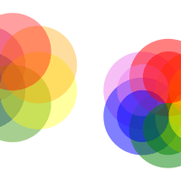 20121223: a study in primary color theory by John LeMasney via 365sketches.org #creativecommons #design
