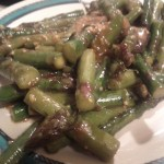 Sautéed asparagus with homemade Chinese-style garlic sauce