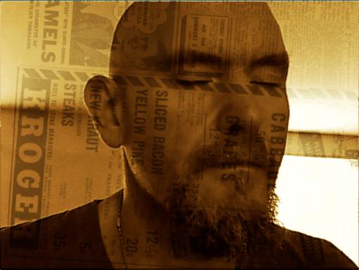 Double exposure with newspaper by John LeMasney via lemasney.com