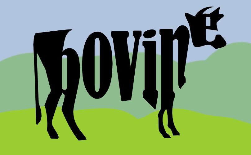 Divine Bovine made out of text by John LeMasney via lemasney.com