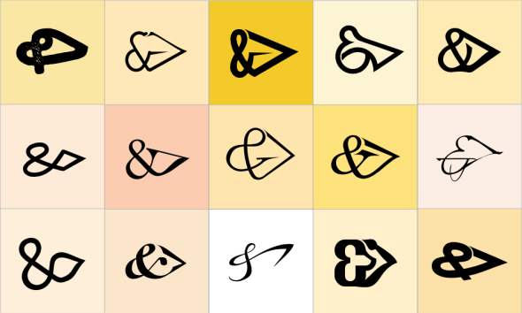 Ampersand Greater Than Font Study by John LeMasney via lemasney.com