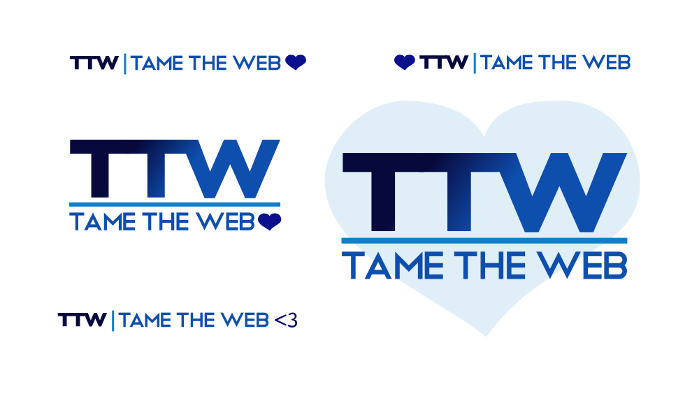 Tame The Web logo rev3 by John LeMasney via lemasney.com
