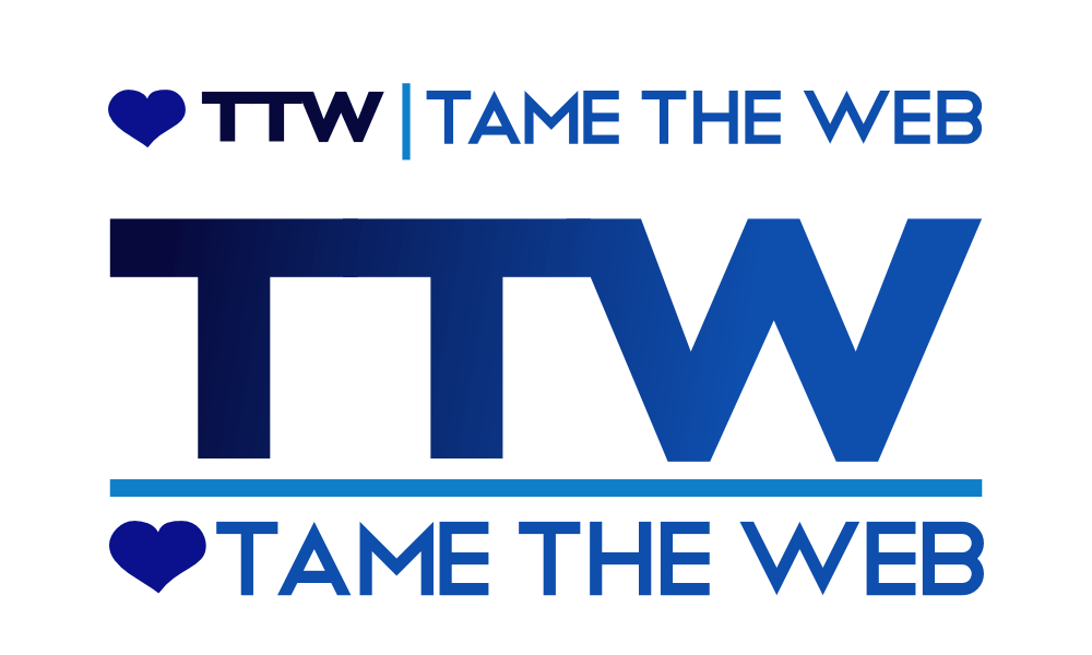 Tame The Web logo rev4 by John LeMasney via lemasney.com