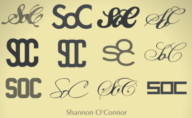 Monograms for Shannon O'Connor