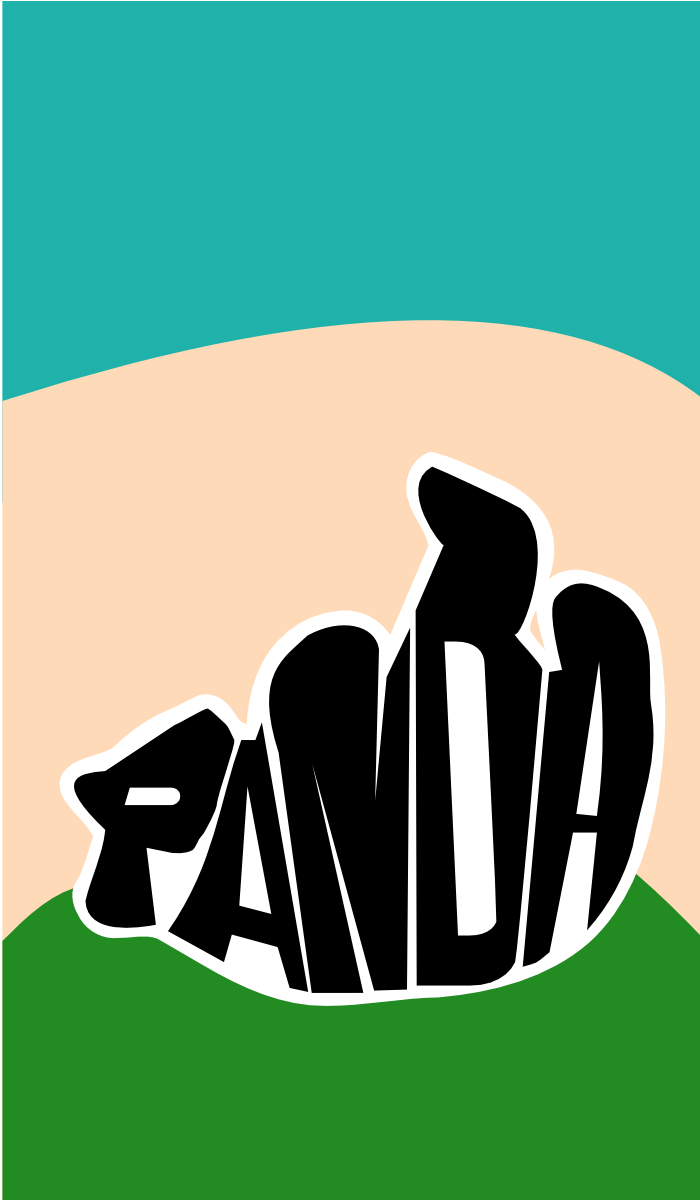 20121228: panda made of text by John LeMasney via 365sketches.org #creativecommons #design #typography