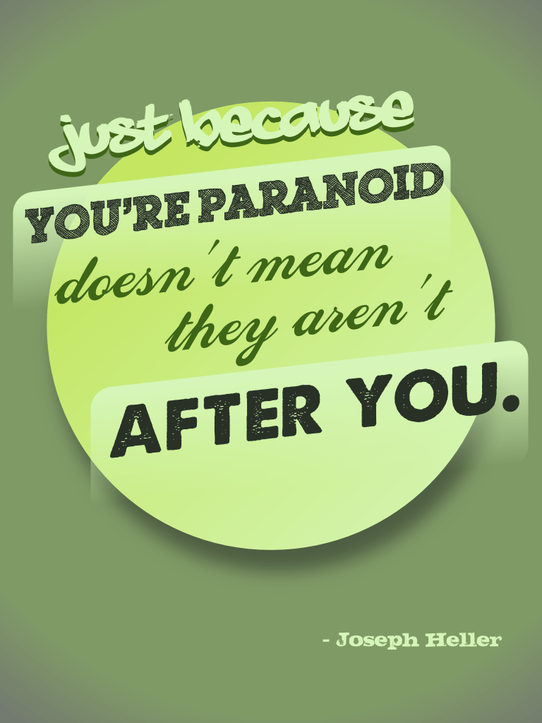 Just because you're paranoid - Joseph Heller cc-by lemasney