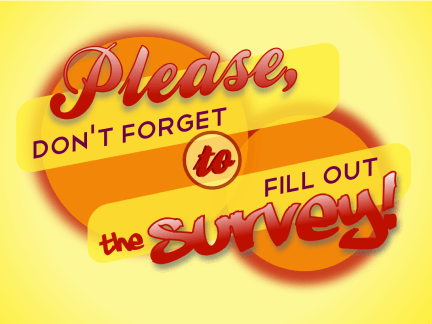 please dont forget to fill out the survey cc-by lemasney