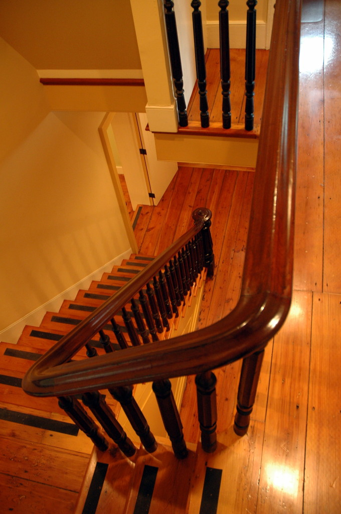 Jedediah Higgins House, Kingston, NJ, Interior, Stairs, Banisters, Floors, cc-by lemasney