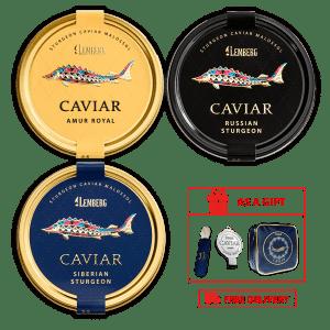 Lemberg cooler bag of 3 caviar delicacies, 3 х 100 g