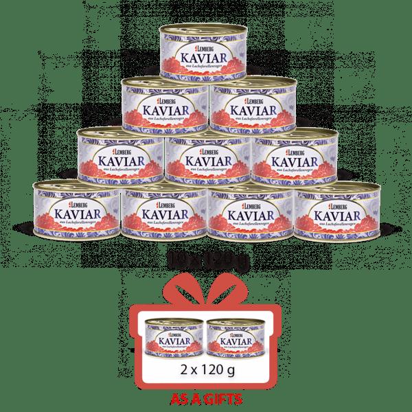 10+ 2 Salmon Trout Caviar, 12 x 120 g