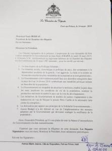 Haïti-Politique: 70 Députés demandent l'interpellation du Premier ministre 1