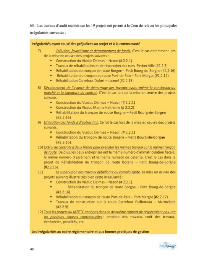 3 remarques pertinentes sur le 2ème rapport de la CSCCA sur le dossier PetroCaribe 2