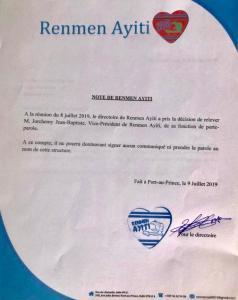 """Haïti-Politique : Le livre """"Toutouni"""" met Jean Henry Céant à nu et Jorchemy Jean-Baptiste limogé du parti Renmen Ayiti 1"""