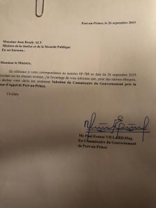 Flash / Haïti : Paul Eronce Villard refuse son nouveau poste à la Cour d'appel de Port-au-Prince 1