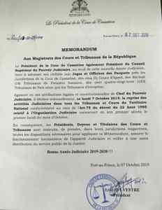 Haïti-Justice: Reprise des activités judicaires ce lundi 7 octobre 2019 1