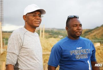 Nord-Ouest : Le DG Agabus Joseph a visité le chantier de la construction de l'hôpital de L'OFATMA 8