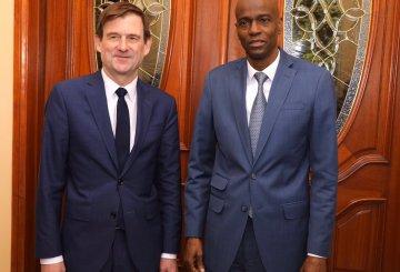 Haïti-Crise: Jovenel Moïse a rencontré le Sous-Secrétaire d'État américain David Hale 2