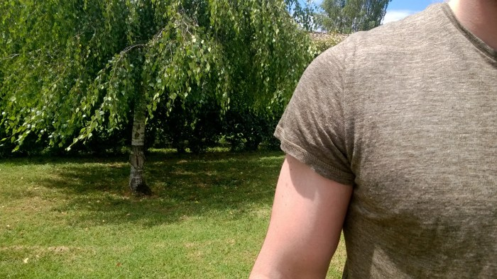 manche tee shirt lin monoprix