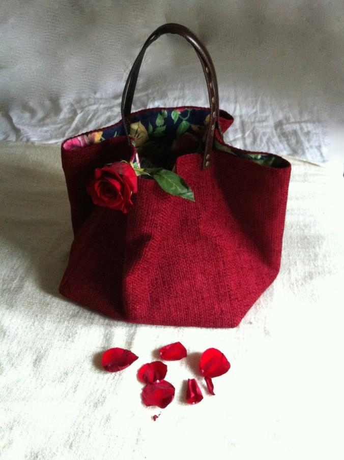 Vino Tinto borsa di tessuto fatta a mano  Tekoa Milano