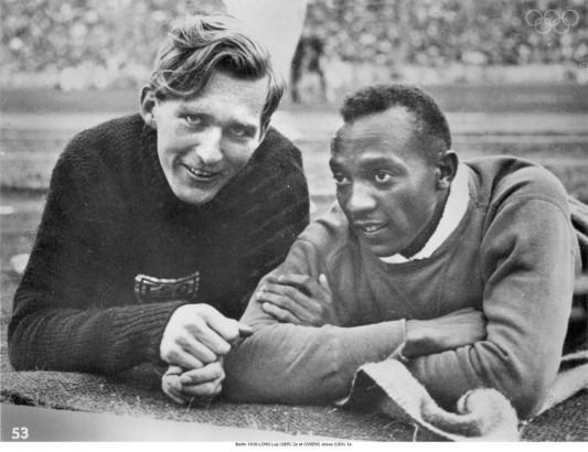 Luz Long et Jesse owens 1936